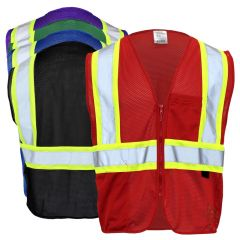 Enhanced Visibility 2 Pocket Mesh Contrast Identification Safety Vest