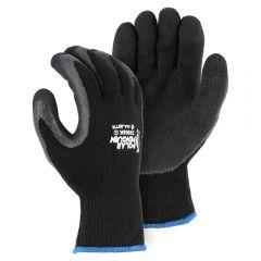 Polar Penguin Foam Latex Dipped HeavyWeight Napped Terry Winter Glove | Black