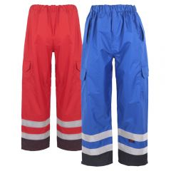 GSS 6813/6814 Enhanced Visibility Black Bottom Safety Rain Pants