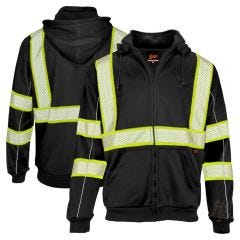 GSS Safety 7513 Onyx Series Enhanced Visibility Full-Zip Hoodie Sweatshirt