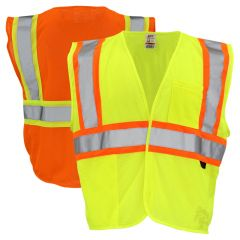 GSS Safety 1007/1008 Class 2 HiVis Contrast Mesh Hook & Loop Safety Vest
