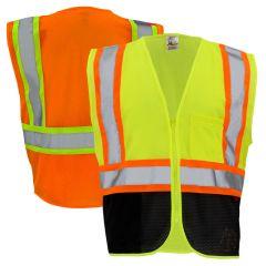 GSS Safety 1105/1106 Class 2 Hi Vis Contrast Black Bottom Safety Vest