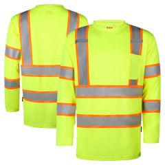 GSS Safety 5013 Class 3 HiVis Contrast Long Sleeve Safety T-Shirt