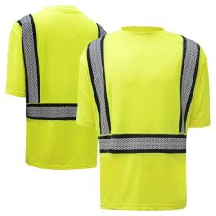 GSS Safety 5701 Onyx Series Class 2 HiVis Snag Proof Safety T-Shirt