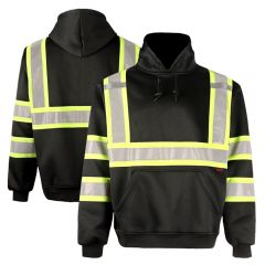 GSS Safety 7007 Enhanced Visibility Black Contrast Pullover Sweatshirt