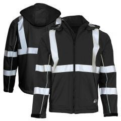 GSS Safety 7517 Enhanced Visibility Hooded Softshell Jacket