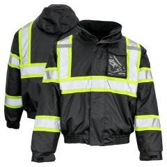 GSS Safety 8011 Class 1 Hi Vis Contrast Thermal Safety Bomber Jacket