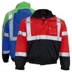 GSS Safety 8013/8014/8016 Enhanced Visibility Thermal Safety Bomber Jacket