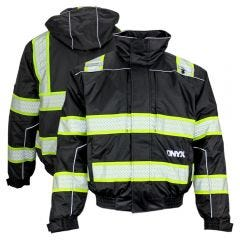 GSS Safety 8513 Onyx Series Enhanced Visibility Thermal 3-In-1  Ripstop Utility Safety Bomber Jacket