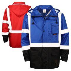 GSS Safety 6013/6014 Enhanced Visibility Utility Black Bottom Rain Jacket