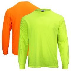 High Visibility Moisture Wicking 50/50 Blend Long Sleeve T-Shirt