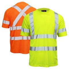 Work King ST07 Class 3 Segmented Tape Micro Mesh Short Sleeve T-Shirt