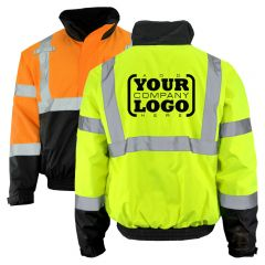 Hi Vis Class 3 Bomber Jacket 3-in-1 with 1-Color Back Imprint