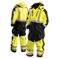 HiVis Class 3 SP Workwear Premium 300D Heavy Duty Cold Weather Safety Coverall