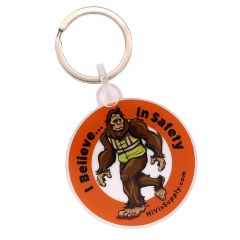 """HiVis Supply 2"""" Acrylic """"I Believe In Safety"""" Keychain"""
