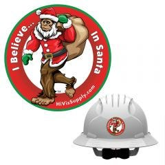 "HiVis Supply ""I Believe In Santa"" Hard Hat Sticker"