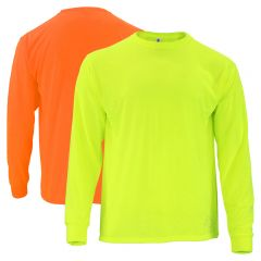 Hi Vis Safety Sport Long Sleeve T-Shirt: Front