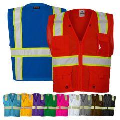 Kishigo B100 Series Enhanced Visibility Multi-Pocket Mesh Identification Vest
