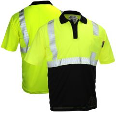 Majestic 75-5213 HI-Vis Class 2 Segmented Short Sleeve Polo