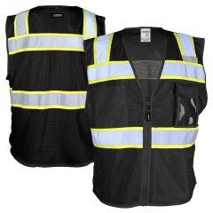 Kishigo B150 EV Series Enhanced Visibility Three Pocket Mesh Safety Vest
