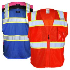 Kishigo B152/B156 EV Series Enhanced Visibility Three Pocket Mesh Safety Vest