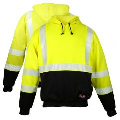ML Kishigo F587 Class 3 HiVis FR HRC 2 Segmented Pull-Over Safety Sweatshirt
