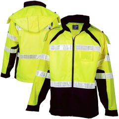 ML Kishigo RWJ112 Brilliant Series ANSI Class 3 Hi Vis Rain Jacket