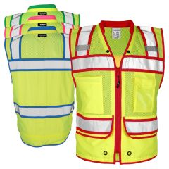 Kishigo S5042/S5046 Class 2 HiVis High Performance Zippered Surveyors Safety Vest