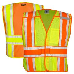 Kishigo 1166BA 4-Season Class 2 Breakaway Mesh Safety Vest | Lime, Front