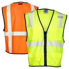Kishigo 1191 Class 2 Ultra Economy 6-Pocket Mesh Safety Vest