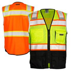 ML Kishigo 1515/1516 Black Series Class 2 Black Bottom Safety Vest