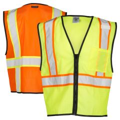 ML Kishigo 1527 Economy 1-Pocket Contrasting Mesh Safety Vest | Back