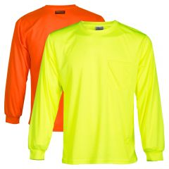 ML Kishigo 9122 High Visibility Microfiber Long Sleeve Shirts | Lime Front