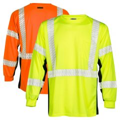 Kishigo 9134/9135 Black Series Class 3 Long Sleeve HiVis Shirts
