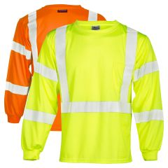 ML Kishigo 9145 Economy Series Class 3 Long Sleeve HiVis Shirts | Lime Front