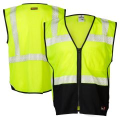 ML Kishigo FM410 Black Series Class 2 Mesh FR Safety Vest HRC-1