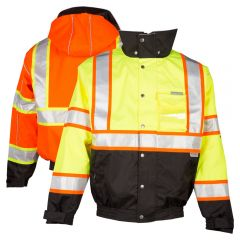 ML Kishigo JS119/JS120 Hi Vis Brilliant Series Bomber Jacket - orange front