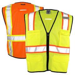 ML Kishigo 1580/1581 Class 2 Economy 6 Pocket Contrast Vest