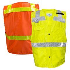 National Safety Apparel 8043/8083 ANSI Class 2 Hi Vis Road Safety Vest