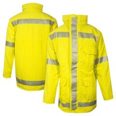 National Safety Apparel C18TZMQC3 Vizable FR Class 3 HRC 2 Modaquilt Lined Parka