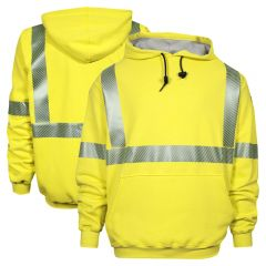 National Safety Apparel C21HCWE03 Vizable FR Class 3 HRC 3 Waffle Weave Segmented Pullover Sweatshirt