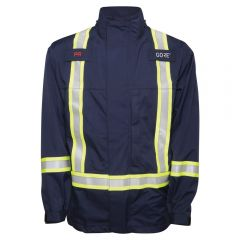 National Safety Apparel Enhanced Visibility FR Navy HRC 2 Gore-Tex Foul Weather Safety Jacket