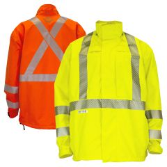 National Safety Apparel HYDROFLASH FR Class 3 HRC 3 Gore-Tex Foul Weather Safety Jacket