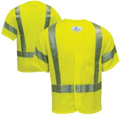 National Safety Apparel V00HA3V Class 3 FR mesh Safety Vest