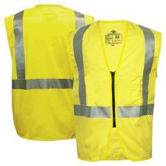 National Safety Apparel  V00TD2Z Vizable FR Class 2 HRC 2 Ultra-Soft Zippered Safety Vest