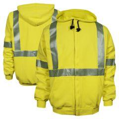 National Safety Apparel Vizable FR HiVis Class 3 CAT 2 Zippered Sweatshirt