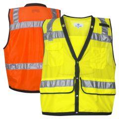 National Safety Apparel VIZABLE Class 2 HiVis Snap Closure Mesh Safety Surveyor Vest