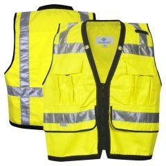 National Safety Apparel Vizable VNT9829 Class 2 HiVis Zippered Solid Safety Surveyor Vest