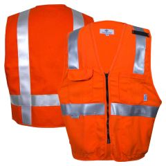 National Safety Apparel VIZABLE FR Class 2 HRC 1 HiVis Deluxe Safety Road Vest