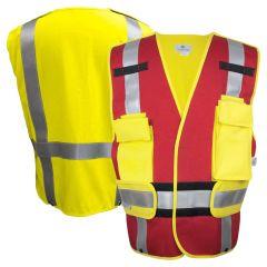 National Safety Apparel Vizable VNT99340R FR Class 2 HRC 2 Adjustable Responder Safety Vest